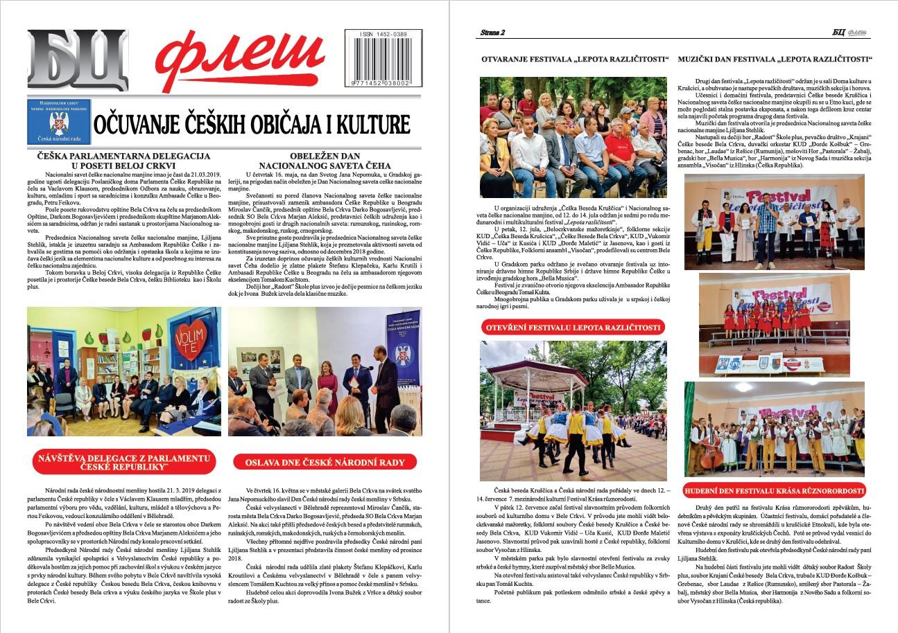 BC Fleš – Dodatak 1 – Očuvanje čeških običaja i kulture