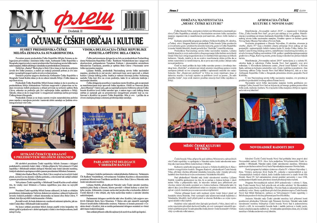 BC Fleš – Dodatak 2 – Očuvanje čeških običaja i kulture
